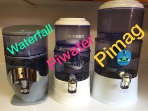 diferencia piwater, pimag y waterfall de nikken